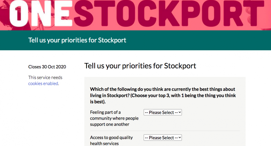 Win an iPad – Have your say on the future of Stockport