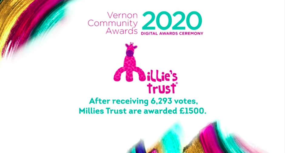 Millie's Trust wins first place in Vernon's Community Awards 2020