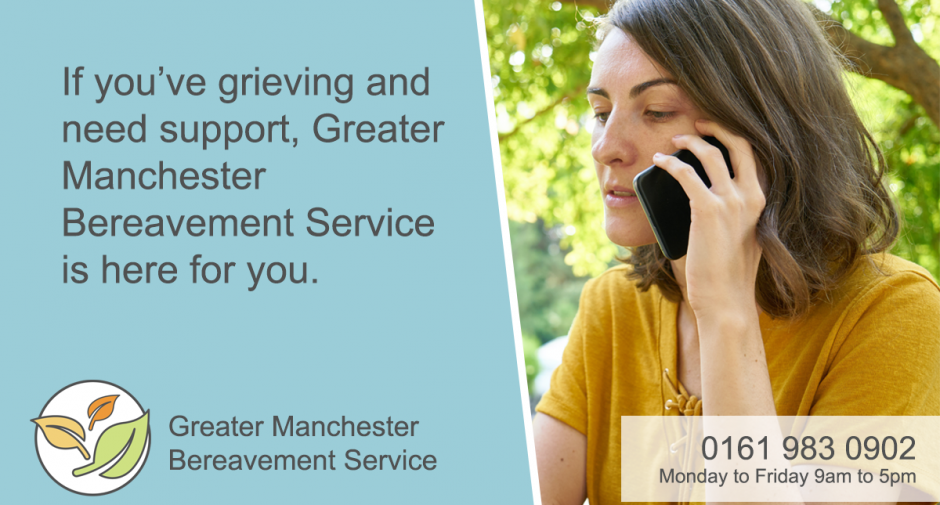 Greater Manchester Suicide Bereavement Information joining Greater Manchester Bereavement Service