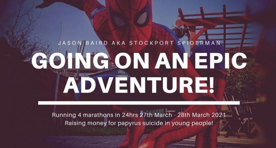 Good luck to Stockport Spidermen on his mammoth marathon weekend!
