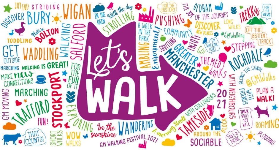 Get involved with the Let's Walk GM Walking Festival 2021