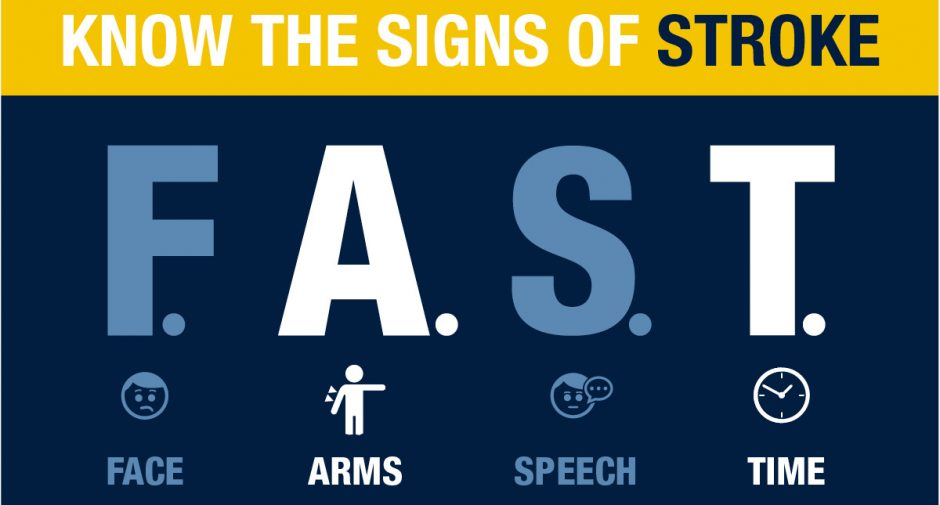 Stockport NHS stroke leaders say act F.A.S.T.  at the signs of stroke