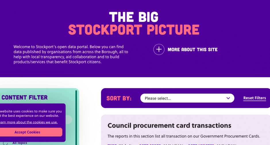 New Open Data portal paints a bigger picture of Stockport residents