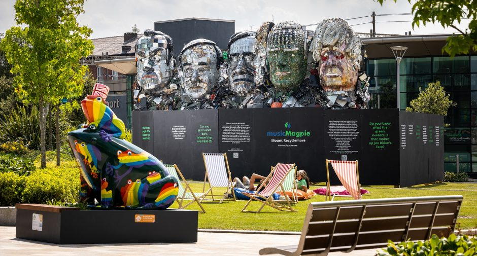 musicMagpie's famous Mount Recyclemore comes home to Stockport