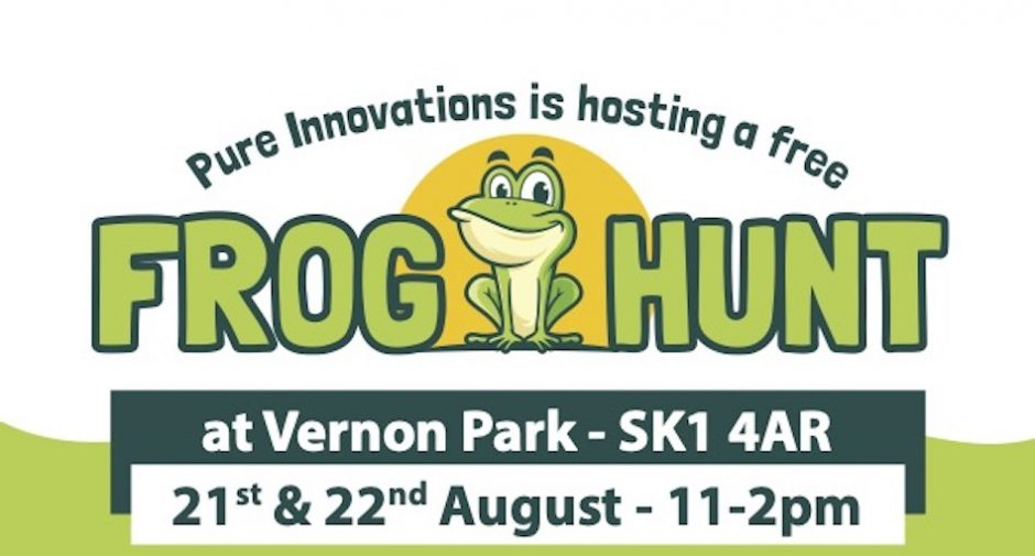 Pure Innovations supporting Stockport Frogs with free frog hunt at Vernon Park